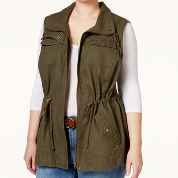 American Rag Trendy Plus Size Utility Vest - American Rag - Plus Sizes - Macy's