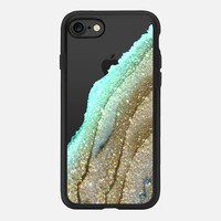 FLAWLESS AQUA FAUX GOLD by Monika Strigel iPhone 6 plus iPhone 7 Hülle by Monika Strigel | Casetify