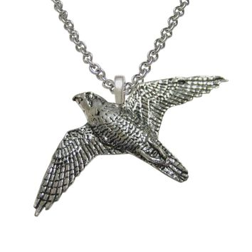 Peregrine Falcon Bird Pendant Necklace