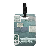 """Sophy Tuttle """"Whale Talk"""" Decorative Luggage Tag"""