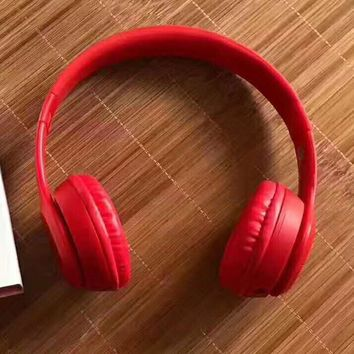 Fashion Beats solo3 wireless Headphone wireless bluetooth headset red H-PSXY