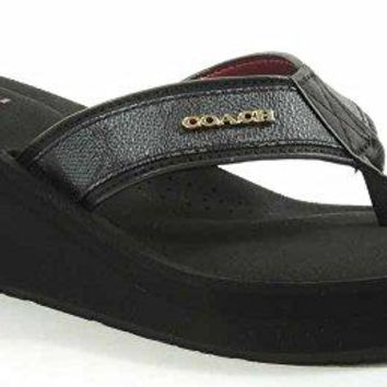 Coach Women's Jolene Signature Wedge Sandal