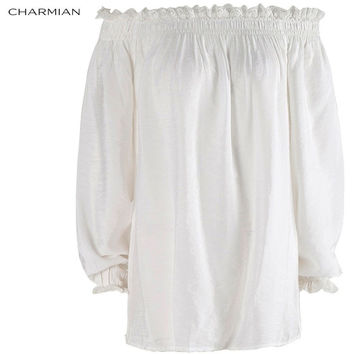 CHARMIAN AUTUMN OFF SHOULDER TOP SHIRT VICTORIAN VINTAGE GOTHIC BLOUSE LOLITA LACE TOP PLUS SIZE WOMEN CLOTHING
