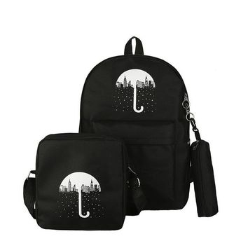 Student Backpack Children OCARDIAN Student backpack 3Pcs Women Candy Colors Backpack Fashion High quality Canvas lovely school backpack AT_49_3