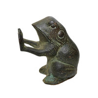 Vintage Frog Door Stop Cast Iron Frog Frog Bookend Cast Iron Toad Statue Frog Figurine Garden Frog