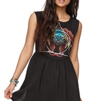 Lira 2 Face Graphic Dress at PacSun.com