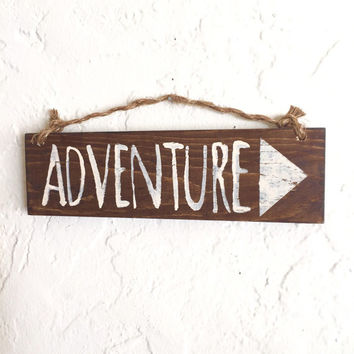 Adventure Sign / Bohemian Decor / Cottage Decor / Hippie Decor / Gypsy Decor / Bohemian Wall Art / Wall Decor / Hippie Art