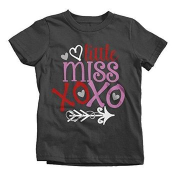 Shirts By Sarah Girl's Little Miss XOXO Funny Valentine Day T-Shirt