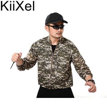 KiiXel Men Summer Thin Tactical Skin Trench Waterproof Quick Dry Army Military Jackets UPF 50+ Breathable Raincoat Windbreaker