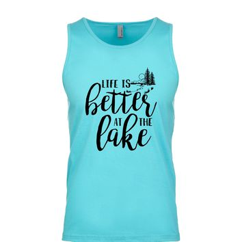 Life Is Better At The Lake Men's Tank