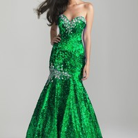 Night Moves 6687 Royal Mermaid Dress