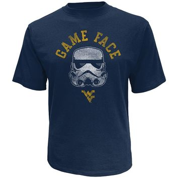 Star Wars College West Virginia Mountaineers Stormtrooper Game Face Tee