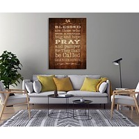 Pray Custom House Wall Art Sign Canvas Print Personalized House Gift