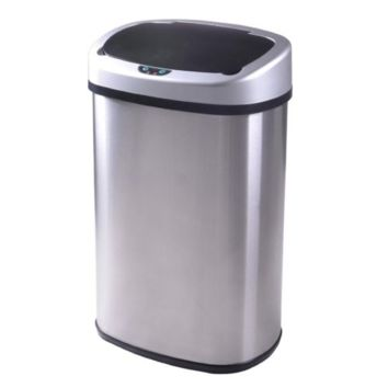 13 Gallon Automatic Touch-Free Sensor Stainless Steel Kitchen Trash Can