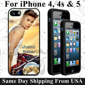 Justin Bieber I love You iPhone 5 4 4s Custom by ABCustoms on Etsy