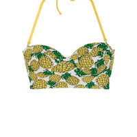 Delia's Fruit Dot Stripe Midkini - Yellow Multi