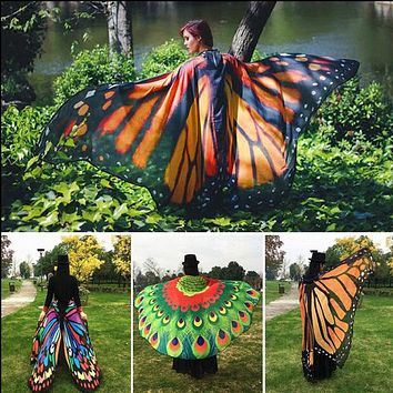 2018 Pareo Beach Cover Up Butterfly Wing Cape Bikini Cover Up Swimwear Women Robe De Plage Beach Bathing Suit Cover Up