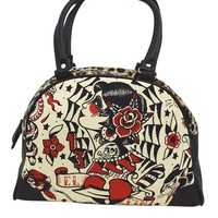 LiquorBrand El Fin Flash Gypsy Girl Tattoo Art Bowling Bag Purse Handbag