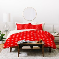 Caroline Okun Ruby Jingle Duvet Cover