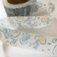 Washi Tape | Japan Adhesive Tape | Decorative Masking Sticky Tape | Scrapbooking Tools Favor Stationery | Jelly Fish 10m L14