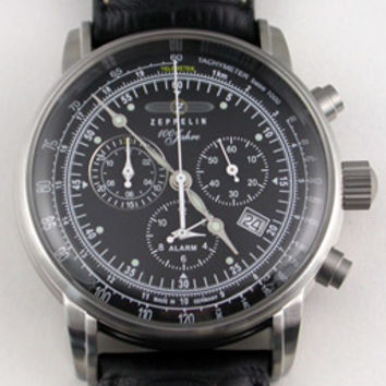 Graf Zeppelin 100 Years Alarm Chronograph Watch 7680-2