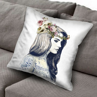 Lana Del Rey Tattoo pillow case, Custom Square Pillow Case popular