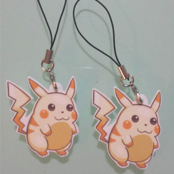 Retro Pikachu charm - Pokemon Red & Blue inspired