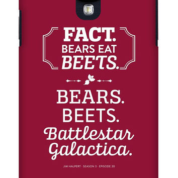 Jim Halpert iPhone Case or Galaxy Phone Case - The Office Dunder Mifflin Bears. Beets. Battlestar Galactica.  Season 3 Episode 20