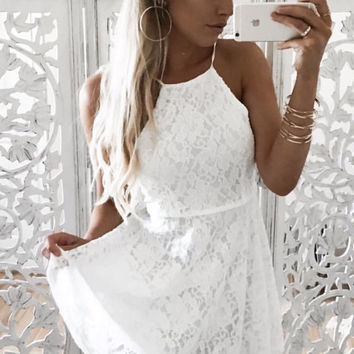 Total Babe Lace Dress - White