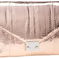 LOEFFLER RANDALL Lock WS Clutch,Rose Gold,One Size