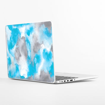 Water Color Clouds Laptop Skin