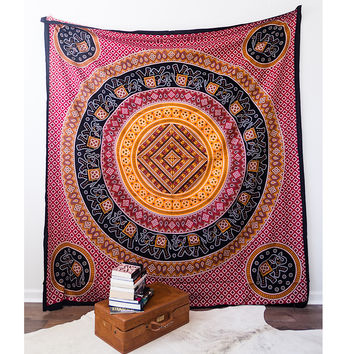 Elephant Medallion Wall Tapestry