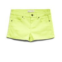 Neon Pop Denim Shorts (Kids)