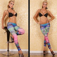 New Grace Leg Wear For Women Cross Cats Printing Legging Tights