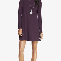 LONG SLEEVE ZIP BACK TRAPEZE DRESS from EXPRESS