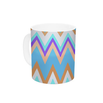 "Nika Martinez ""Girly Surf Chevron"" Ceramic Coffee Mug"
