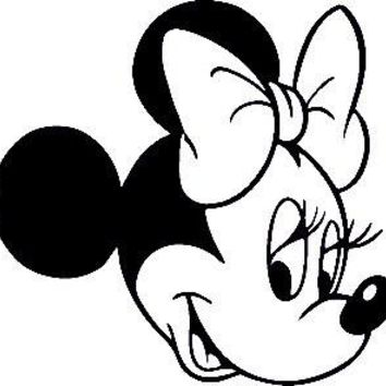 Minnie Mouse Side  Vinyl Car/Laptop/Window/Wall Decal