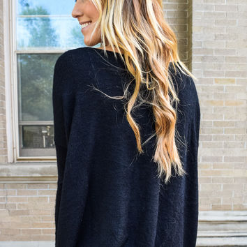 Simple And Soft Sweater Black