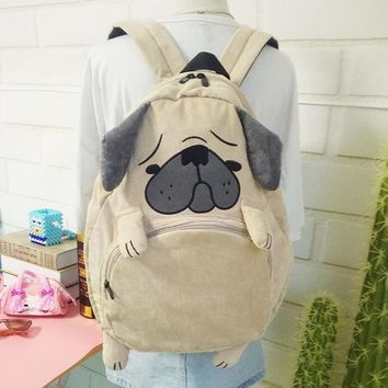 Student Backpack Children 2018 Japanese cute cartoon animals backpack school bags for girls larger capacity corduroy backpack high school students bag AT_49_3