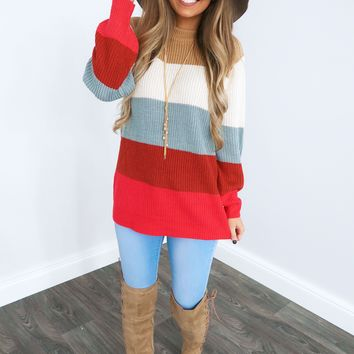 Cozy By The Fire Sweater: Multi