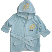 Funkoos Bath Time Organic Hooded Bathrobe for Babies, Baby Boy, 0-9 Months