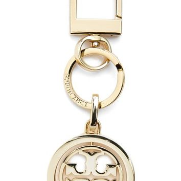 Women's Tory Burch Logo Key Chain - Metallic