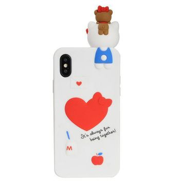 Iphone X Case Phenix Color 3d Cute Cartoon Soft Silicone Hello Kitty Gel Back Cover Case For Iphone X(2017) Case Amp Prime (#11)