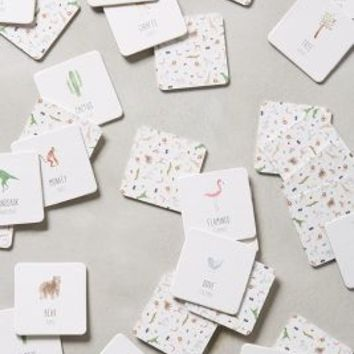 Flora & Fauna Memory Game by Anthropologie Neutral Motif One Size House & Home