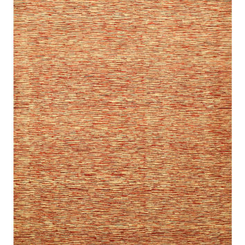 Hand-knotted Wool Red Contemporary Stripe Peshawar Rug