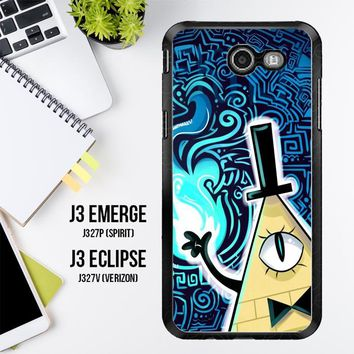Gravity Falls Bill Cipher  X4424 Samsung Galaxy J3 Emerge, J3 Eclipse , Amp Prime 2, Express Prime 2 2017 SM J327 Case