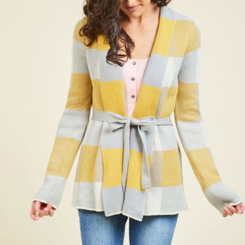 Simply Snuggly Plaid Cardigan in Dawn | Mod Retro Vintage Vests | ModCloth.com