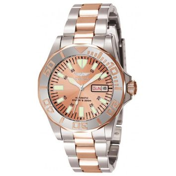 Invicta Men's 7049 Signature Automatic 3 Hand Rose Gold Dial Watch
