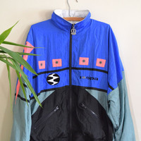 Vintage Deadstock IXSPA 2000 Windbreaker, 1990s Unisex Athletic Jacket, New With Tags