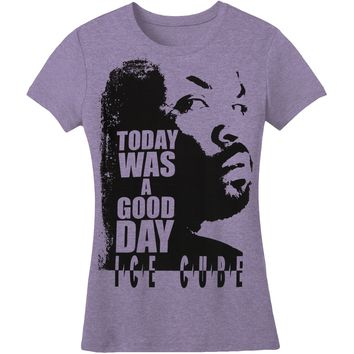Ice Cube  Today Was A Good Day Girls Jr Soft tee Black